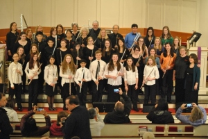 All three NMYO flute choirs in concert with New England Flute Orchestra