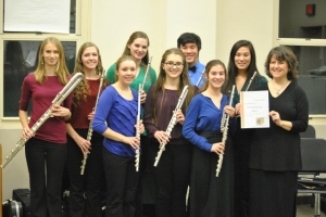 NMYO Select Flute Choir, after US Premier of Branimir Rezic's In Principio Erat Rhytmus