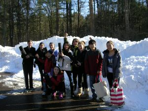 New Englanders even rehearse after a blizzard!