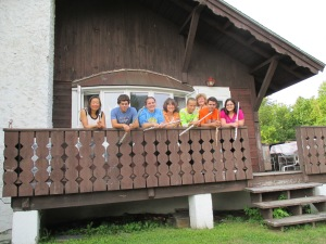 Taking a break at White Mountain Flute Conservatory